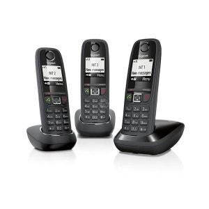 Téléphone sans fil AS405 TRIO Noir GIGASET