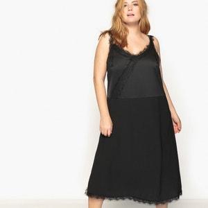 Midi Dress with Lace Detail CASTALUNA