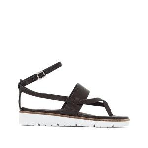 Sandales compensées, cuir, Icare PATAUGAS