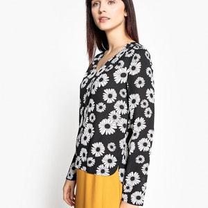 Blusa con estampado de margaritas La Redoute Collections