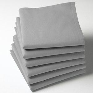 Servilletas lisas, 100% algodón (lote de 6) SCENARIO