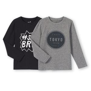 Confezione da 2 T-shirt da 3 a 12 anni La Redoute Collections