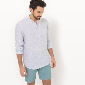 Recht hemd in zuiver linnen R essentiel