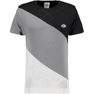 Texturé Mesh Squad Manche Courte T-Shirt BLUE INC