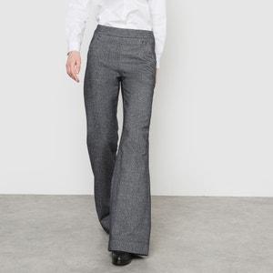 Pantalón ancho con puente y efecto de franela R essentiel