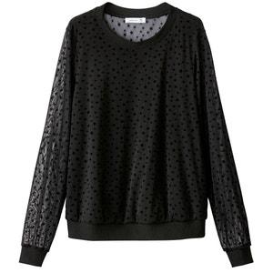 Sweatshirt in Lagenoptik, Meshmaterial mit Sternenmuster MADEMOISELLE R