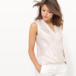 Gekruiste bedrukte blouse atelier R