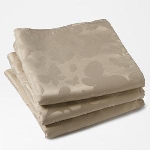 Tafelservetten in jacquard, 100% polyester, (set van 3), vlinder motiefjes La Redoute Interieurs