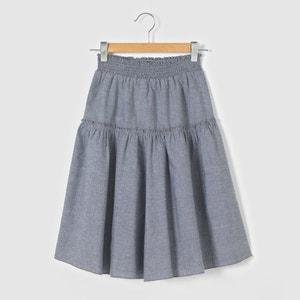 Falda corta tipo enagua de algodón estilo vaqueros 3-12 años abcd'R