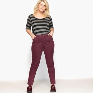 Pantalon 5 poches slim sergé couleur CASTALUNA