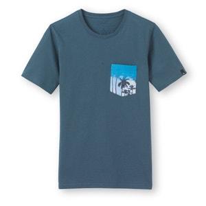 Camiseta de cuello redondo, bolsillo estampado, 8-16 años Quiksilver® QUIKSILVER