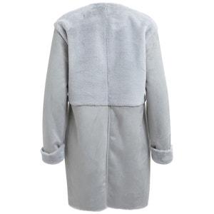 Faux Suede & Fur Coat VILA