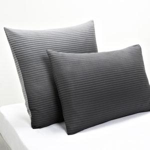 Fronha de almofada em cetim de algodão Rayados La Redoute Interieurs