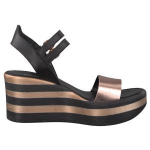 Leather Wedge Sandals TAMARIS