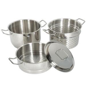 Set 4 pièces cuit pâtes vapeur en inox Artmétal ARTMETAL