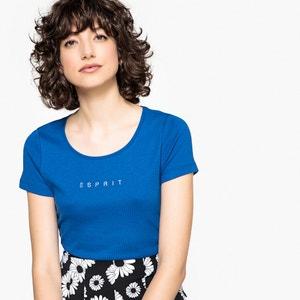 T-shirt col rond, manches courtes, pur coton ESPRIT