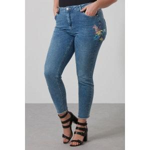 Pantalon jambe slim avec broderie MS MODE
