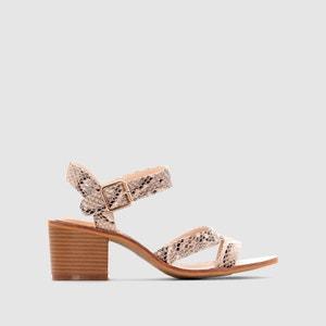 Heeled Snakeskin Print Sandals CASTALUNA