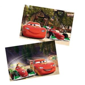 Puzzle 2 x 50 pièces en bois : Cars EDUCA