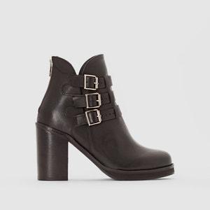 Leder-Boots mit Schnallen