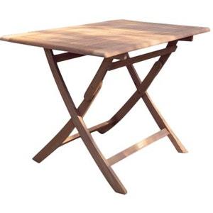 Table rectangulaire pliante look teck PROLOISIRS