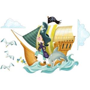 Sticker enfant Bateau de Pirates ACTE DECO