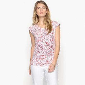 T-shirt col bateau imprimé, manches courtes ANNE WEYBURN
