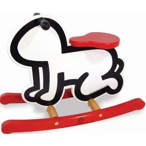 Bascule Keith Haring blanche VILAC