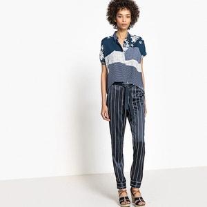 Gestreifte Pyjamahose La Redoute Collections