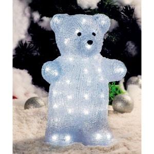 Superbe décoration de Noël ! - Ourson lumineux en acrylique - 45cm - LED blanches -  Intérieur ou extérieur ! NONAME
