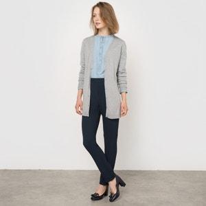 Gilet Merinos semi-lungo, pura lana Mérinos R essentiel