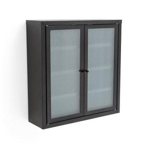 Armario de pared 2 puertas de metal y cristal PODA