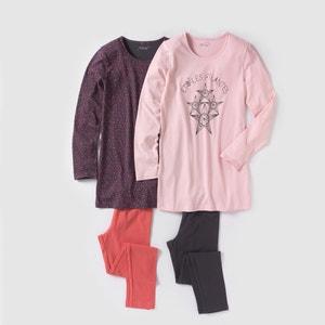 2er-Pack Pyjamas, bedruckt, 10-16 Jahre R édition