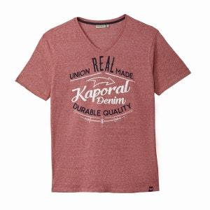 Tee shirt  col v, manches courtes KAPORAL
