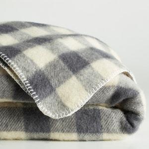 Manta a cuadros de lana, ROMU La Redoute Interieurs