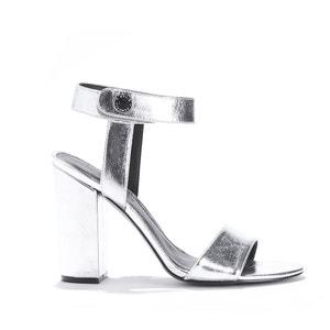 Sandaletten ROWAN, Ziegenleder, Metallikoptik KENDALL + KYLIE