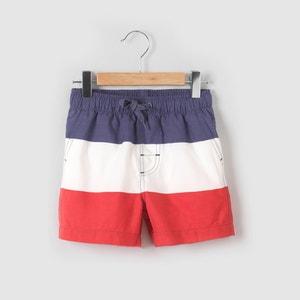 Shorts da bagno a righe 3-12 anni La Redoute Collections