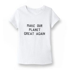 T-shirt com mensagem, algodão proveniente da agricultura biológica, 5-14 anos La Redoute Collections