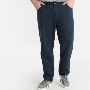 Rechte broek met elastische zijkanten