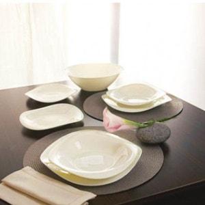Service de vaisselle blanc ivoire 19 pièces Volare LUMINARC