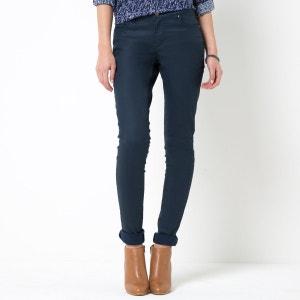 Pantalon slim 5 poches, coton stretch enduit La Redoute Collections