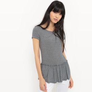 T-shirt à rayures avec basque R Edition