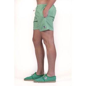 Short de bain pour homme rayé vert et blanc 1789 CALA