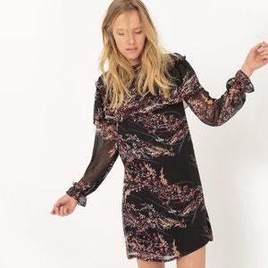 Bedrukte jurk met volants R studio