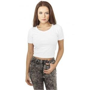 T-shirt Court Urban Classics Blanc Cropped URBAN CLASSICS