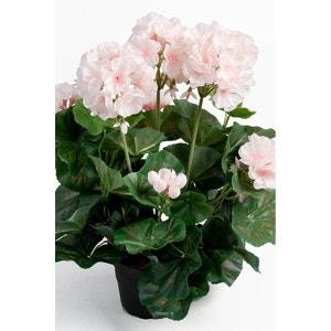 Geranium artificiel 6 tetes en pot leste H 35 cm superbes feuilles Rose pâle - couleur: Rose pâle ARTIFICIELLES