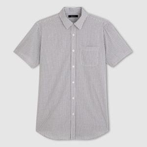 Short-Sleeved Poplin Shirt - Length 3 CASTALUNA FOR MEN