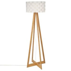 Lampadaire bambou Moki - Hauteur 150 cm - Blanc ATMOSPHERA