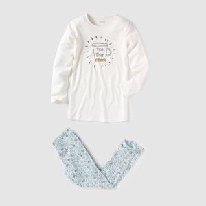 Пижама из джерси с принтом