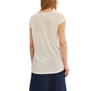 Tee shirt col rond, uni ESPRIT
